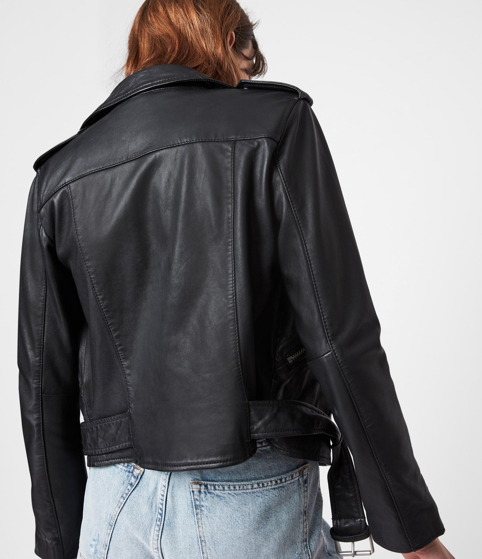 Women's Balfern Leather Jacket - Back View