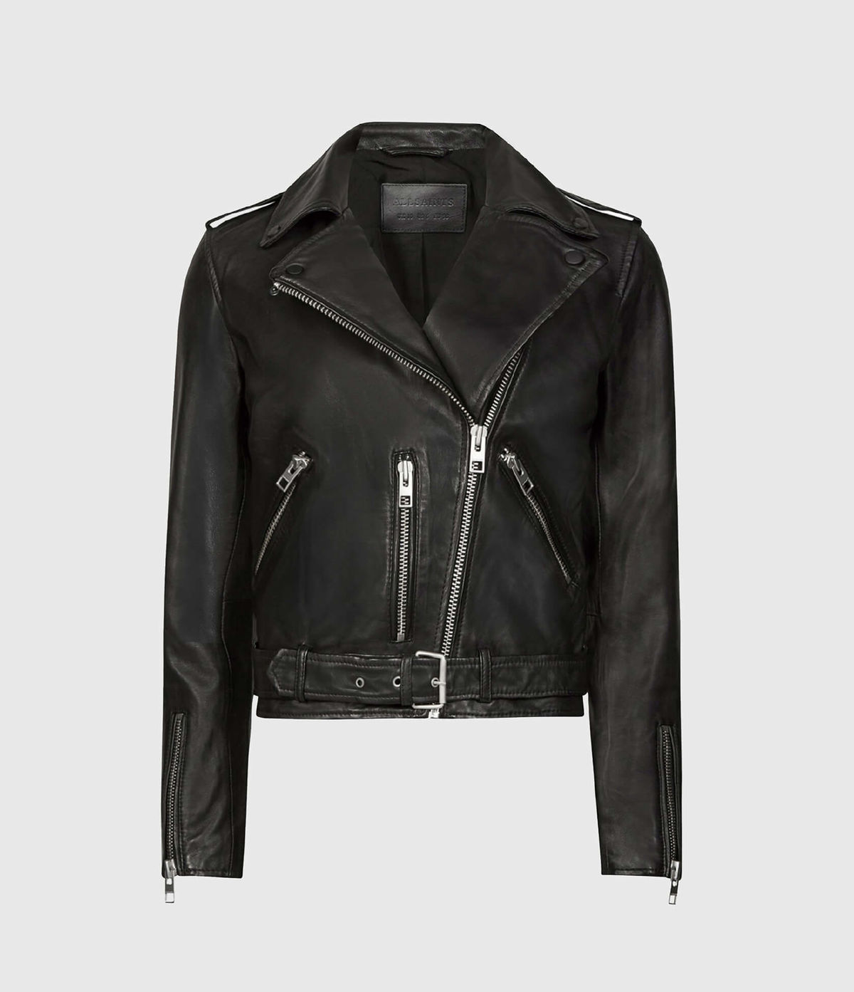 Women's Balfern Leather Jacket - Hover for Measurements