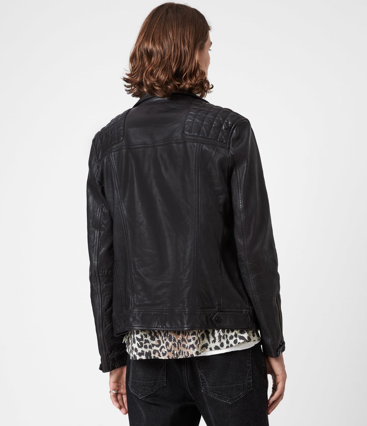Men's Conroy Leather Jacket - Back View