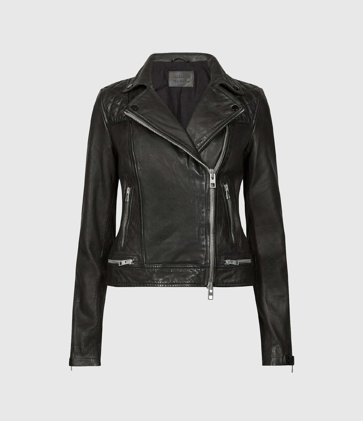 Women's Conroy Leather Jacket - Hover for Measurements