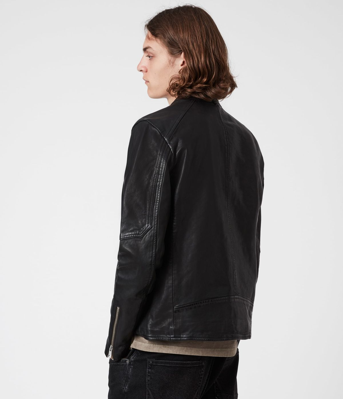 Men's Cora Leather Jacket - Back View
