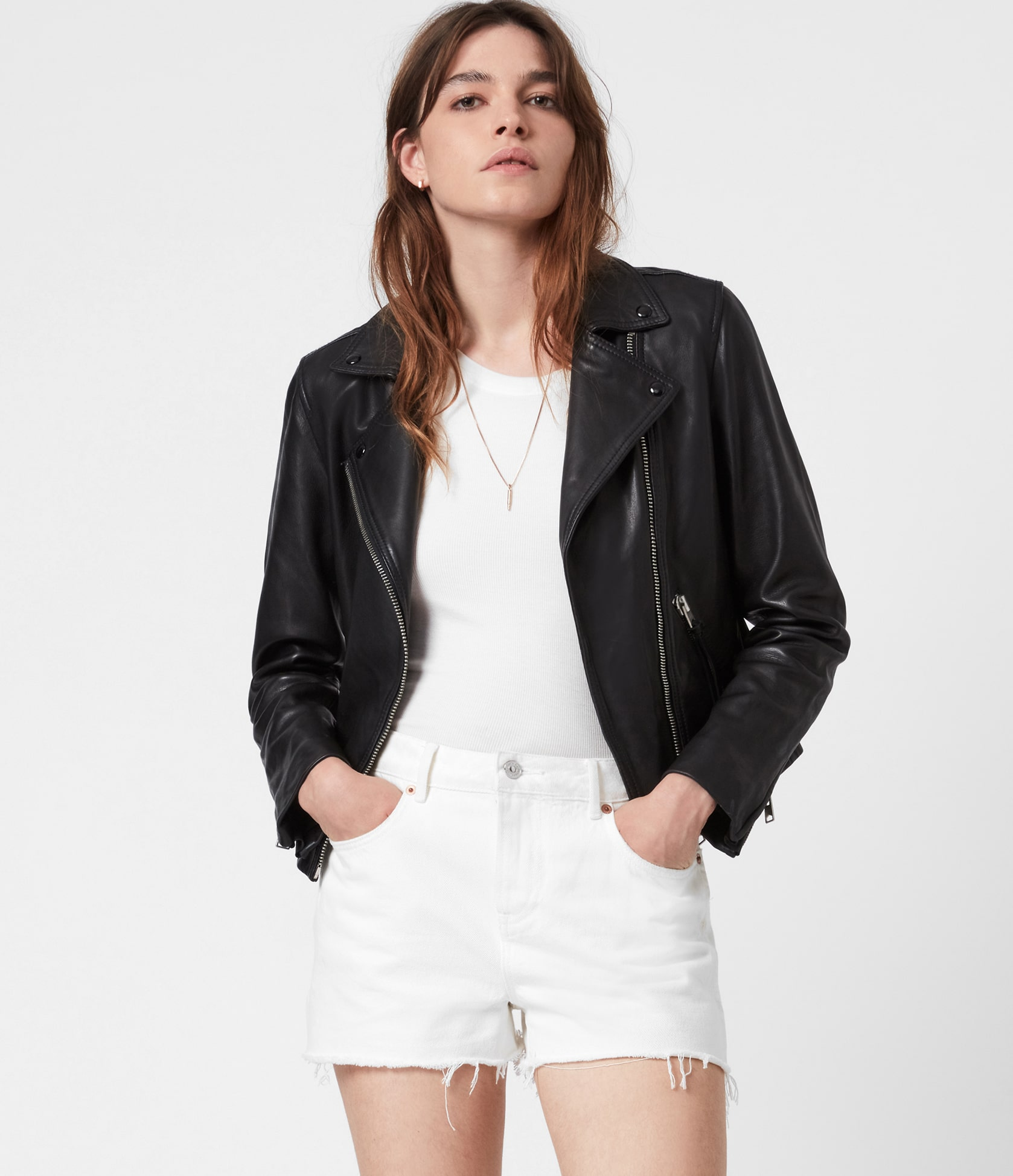 Women's Dalby Leather Jacket - Front View