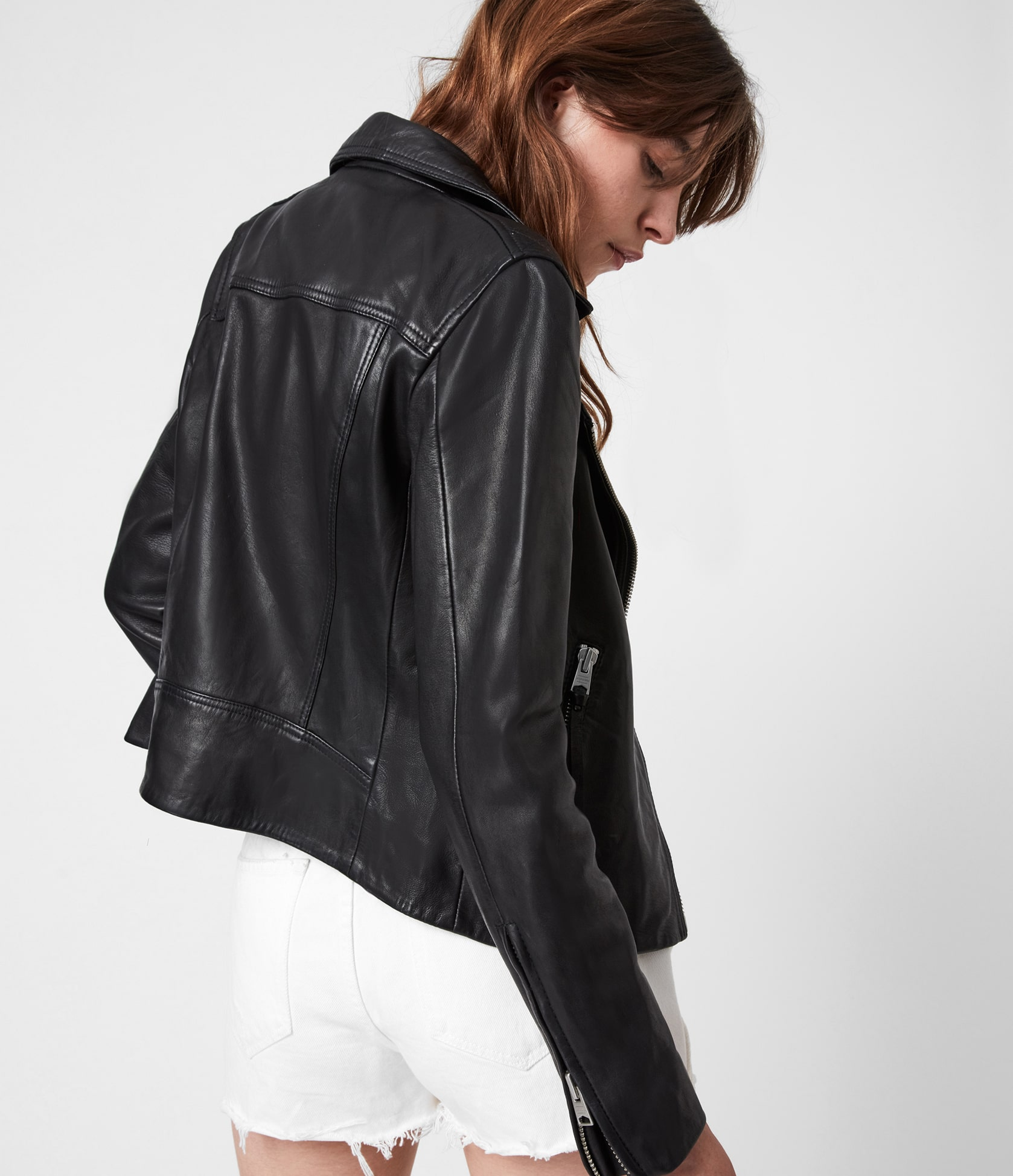 Women's Dalby Leather Jacket - Side View