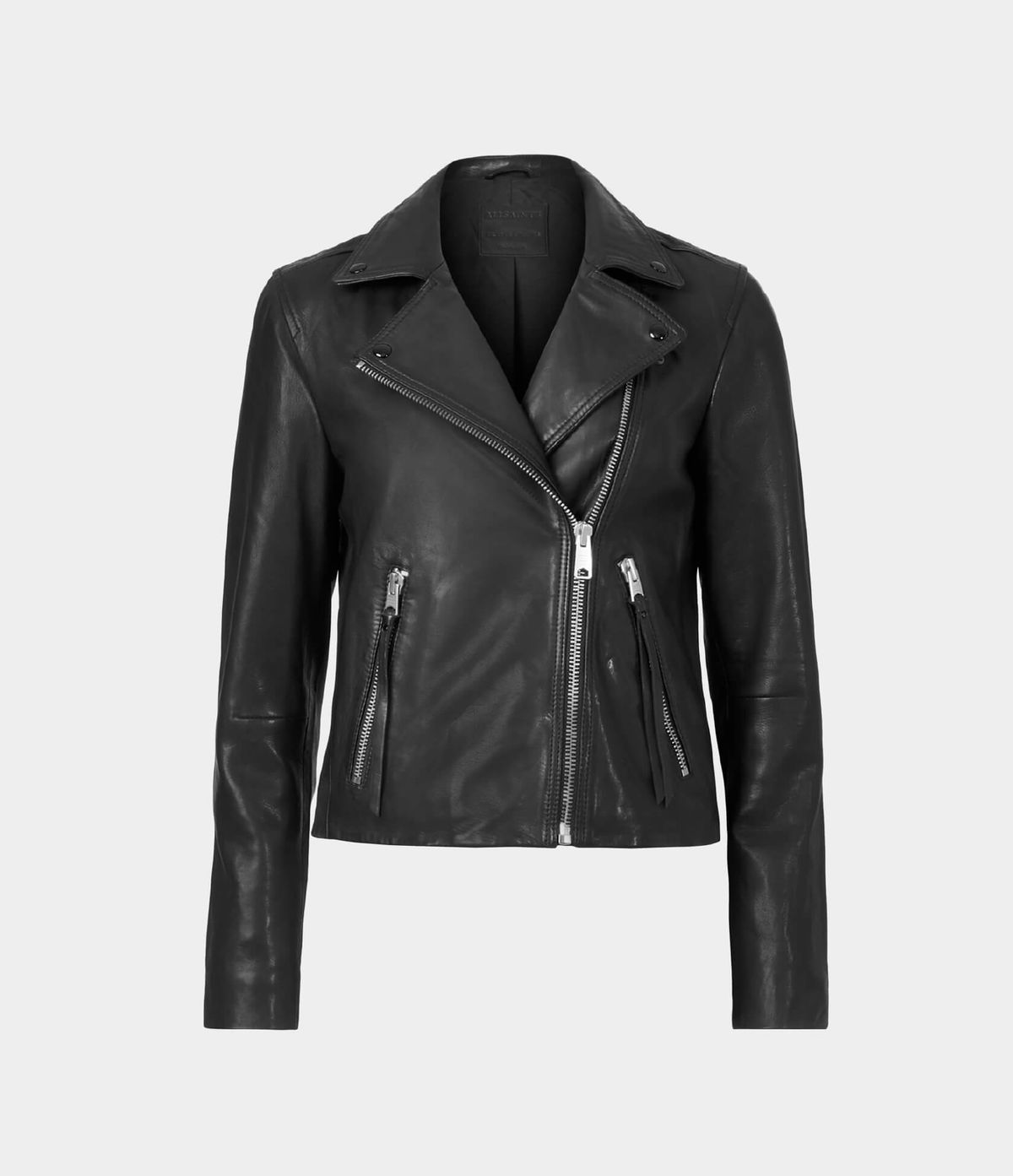 Women's Dalby Leather Jacket - Hover for Measurements