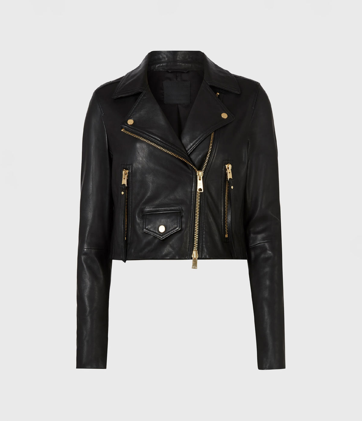 Women's Elora Leather Jacket - Hover for Measurements