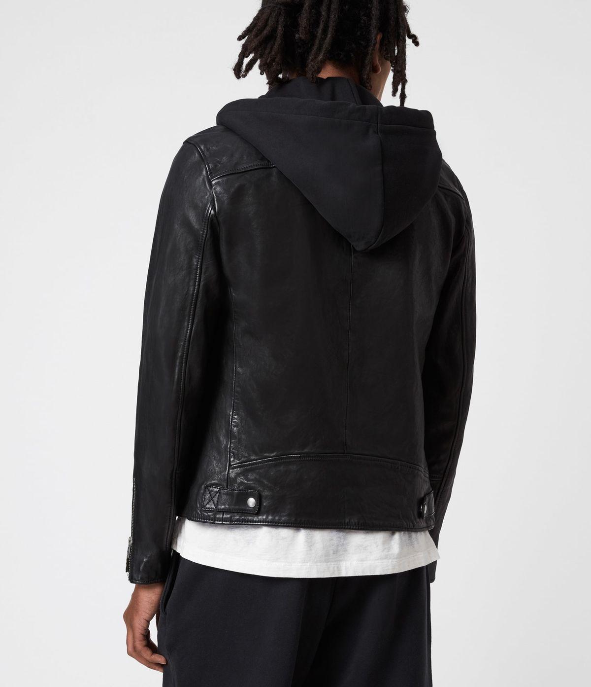 Men's Harwood Leather Jacket - Back View