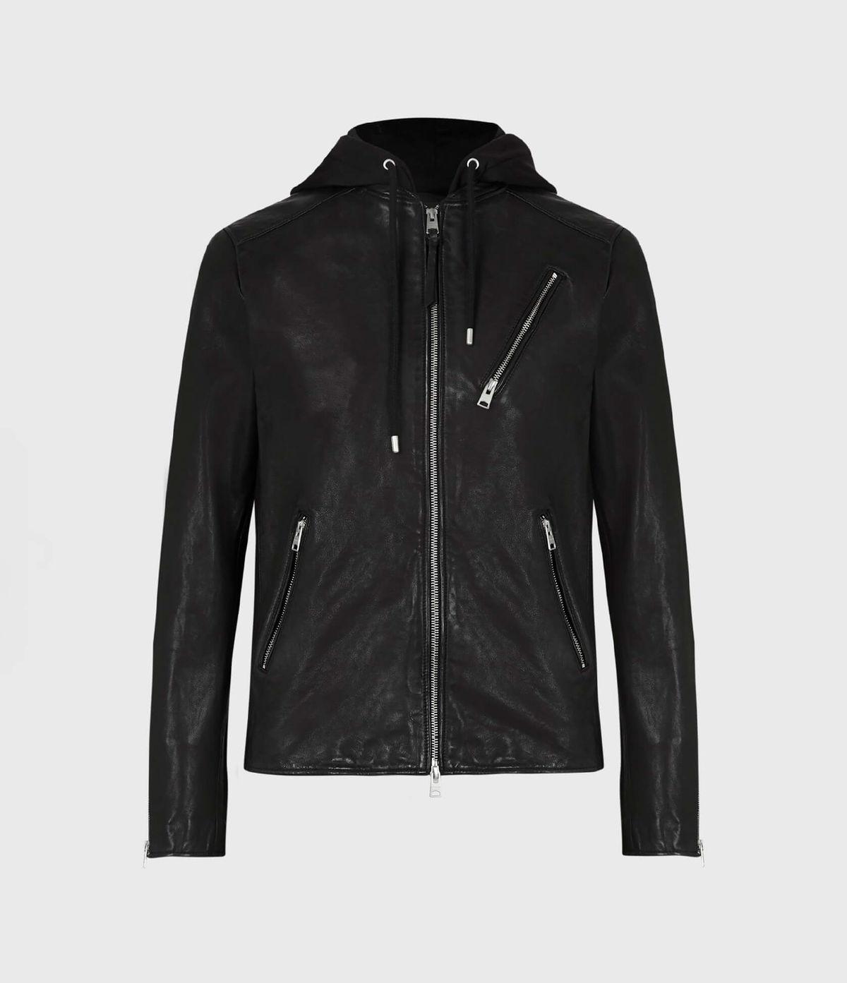 Men's Harwood Leather Jacket - Hover for Measurements