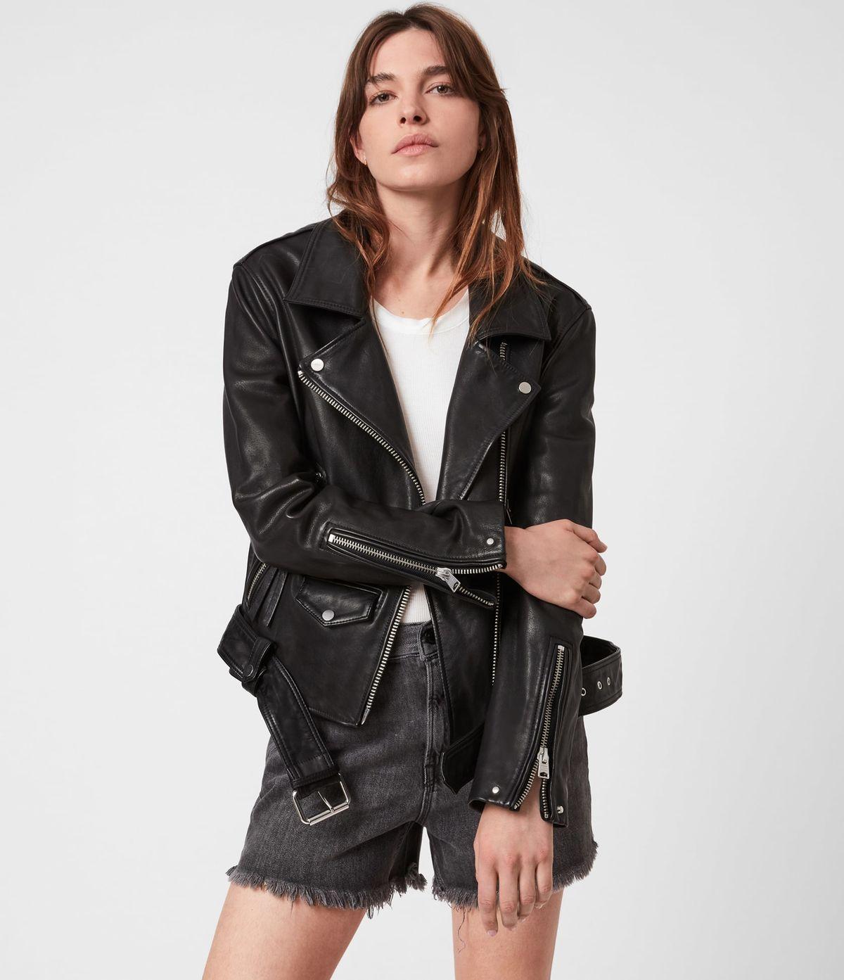 Women's Luna Leather Jacket - Front View