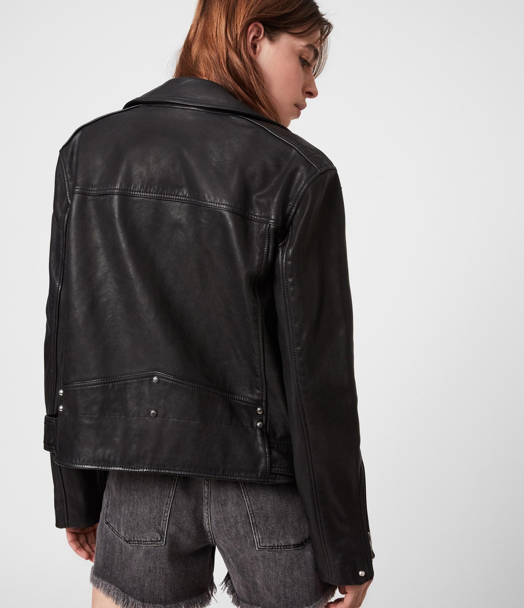 Women's Luna Leather Jacket - Side View