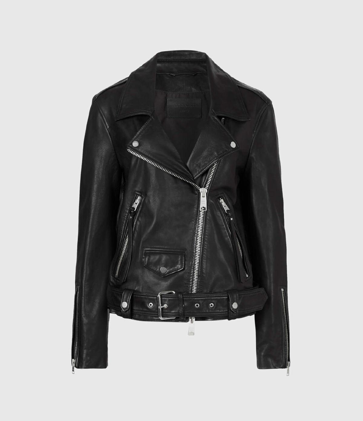 Women's Luna Leather Jacket - Hover for Measurements