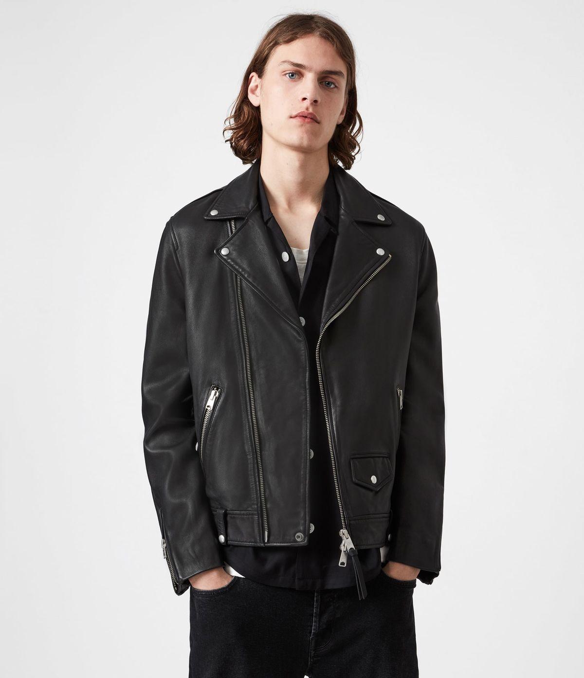 Men's Milo Leather Jacket - Front View