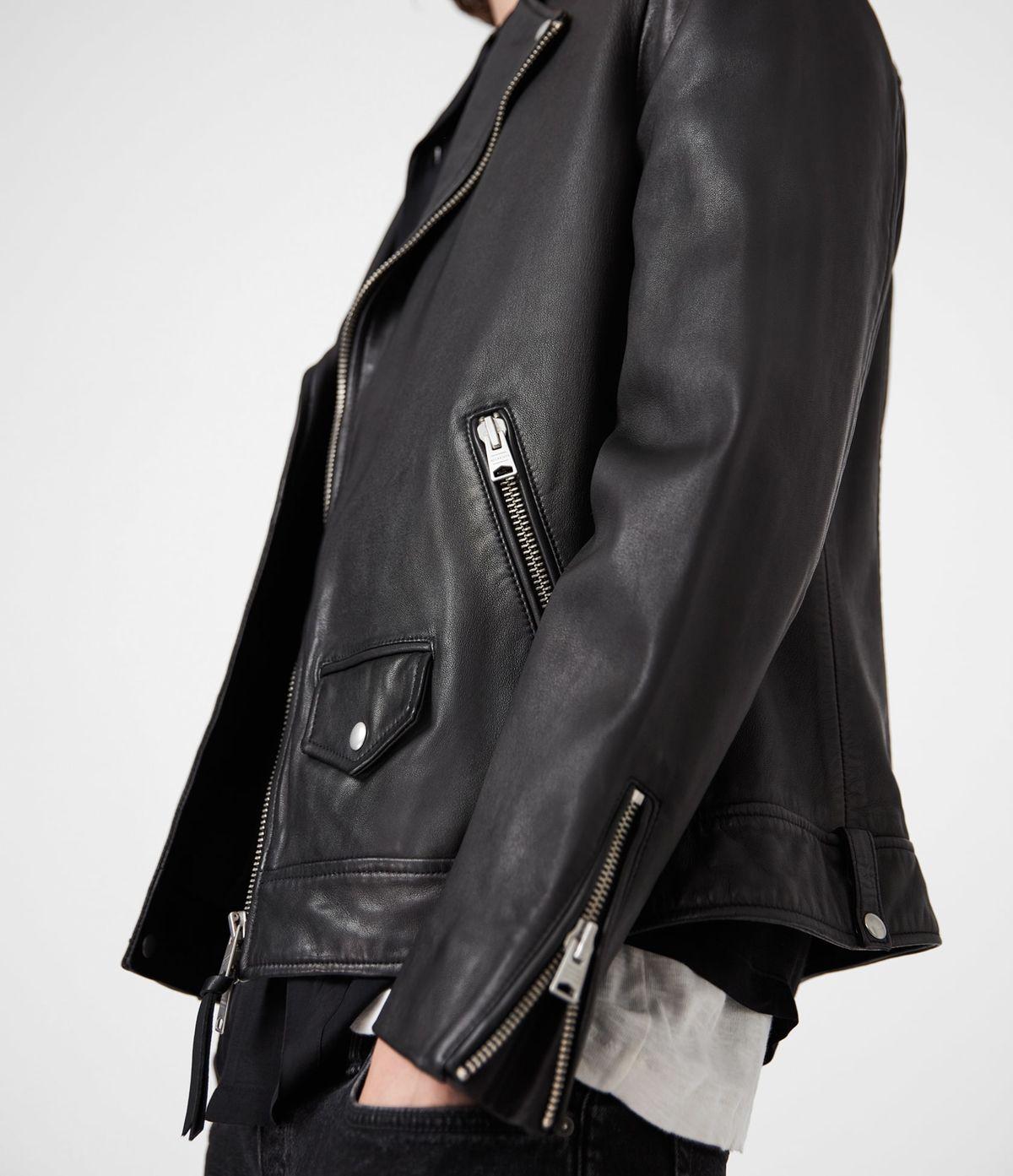 Men's Milo Leather Jacket - Side View
