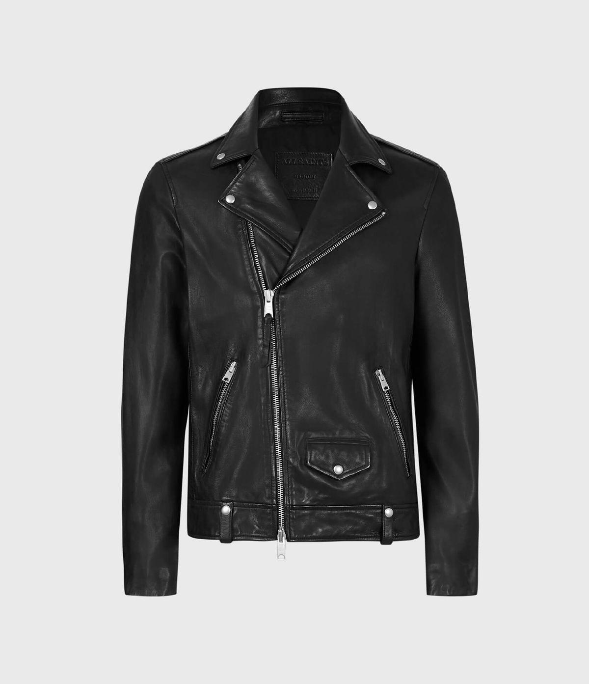 Men's Milo Leather Jacket - Hover for Measurements