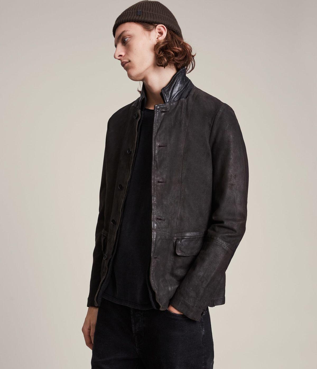 Men's Survey Leather Jacket - Side View