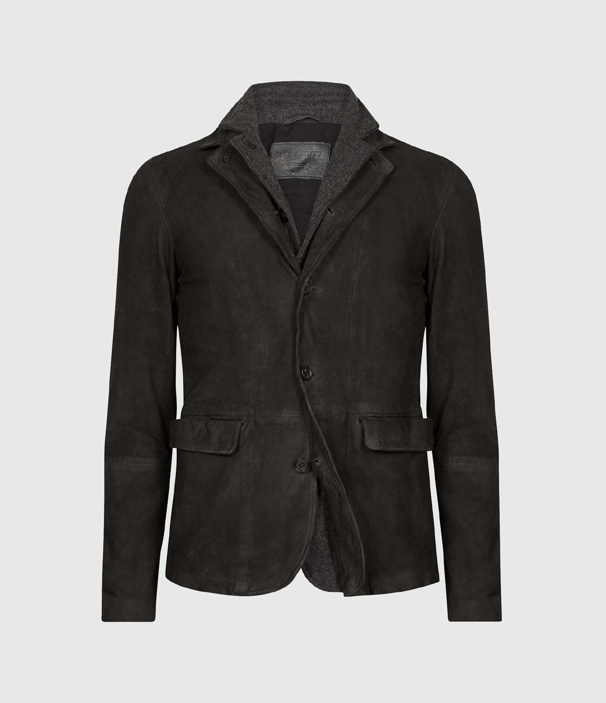 Men's Survey Leather Jacket - Hover for Measurements