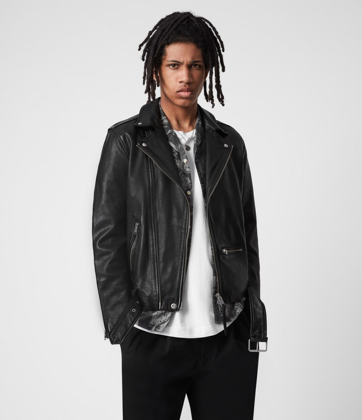 Men's Wick Leather Jacket - Front View