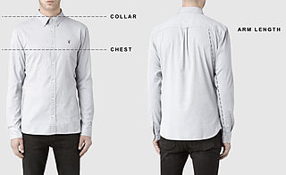 Men's shirts size guide