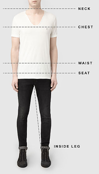 Mens clothing size guide