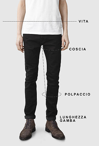 Men's jeans size guide