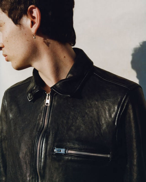 Shop our men's leather jackets.
