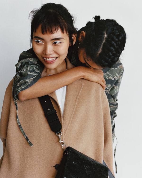 London. More Than Ever - image women hugging wearing new collection.