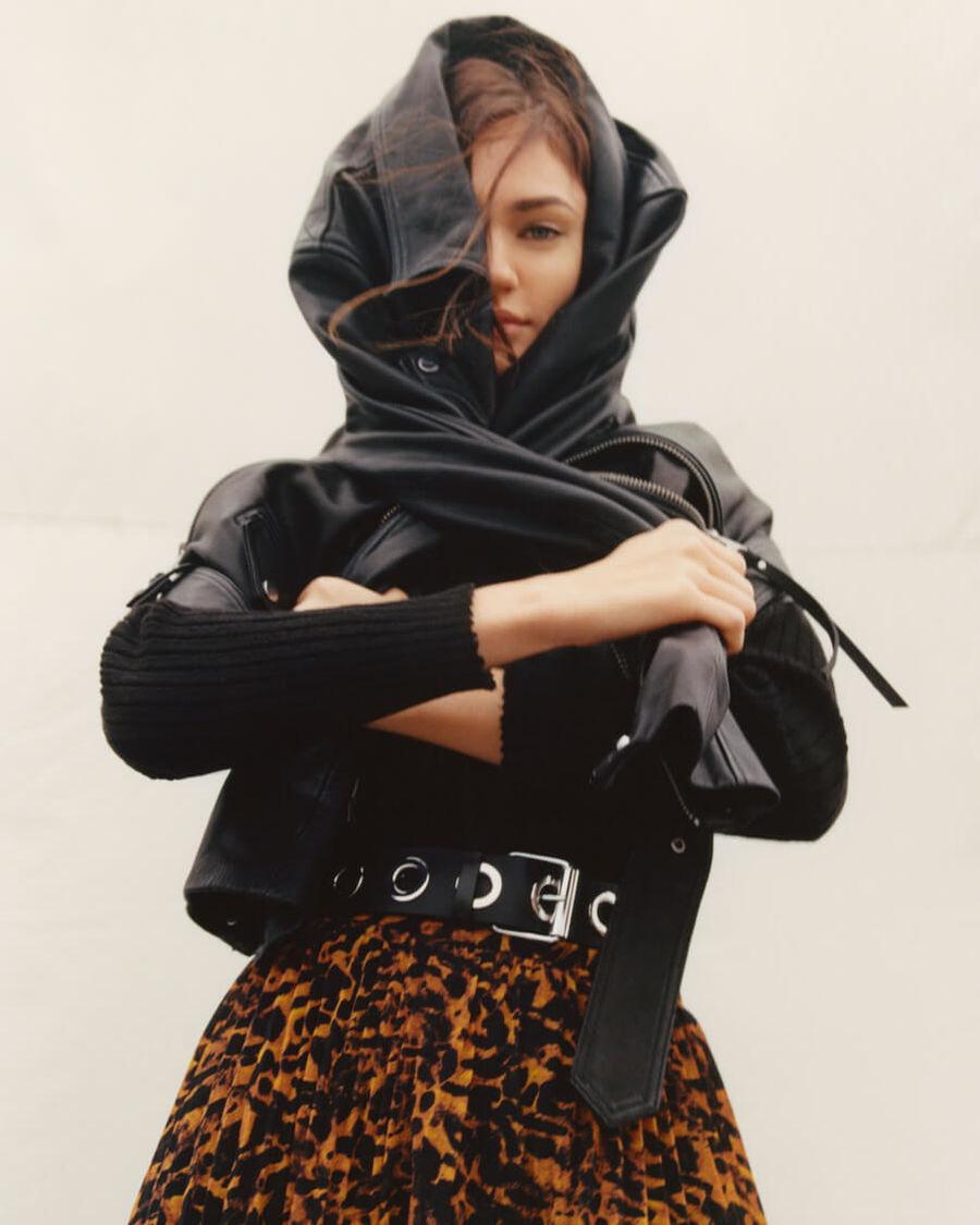 Shoppez la veste en cuir Luna pour femme.