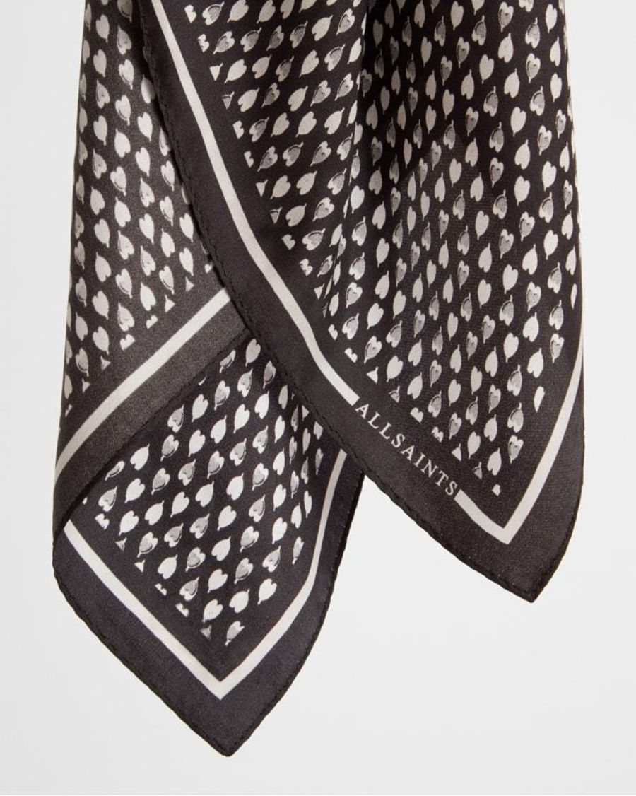 Product shot of the Heart Silk Bandana.