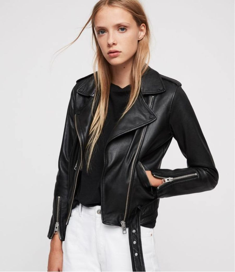 Product shot of the Balfern Leather Biker Jacket.