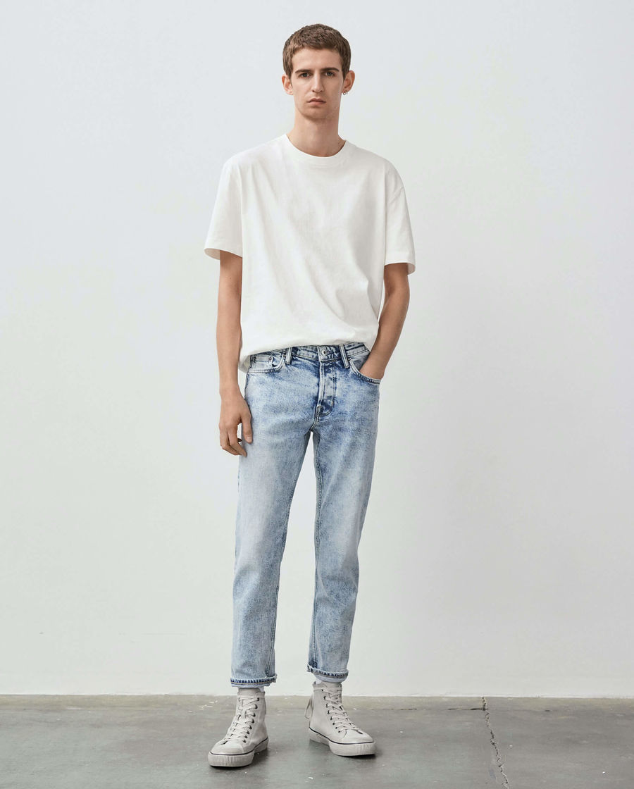 Discover our cropped slim leg Dean jeans.