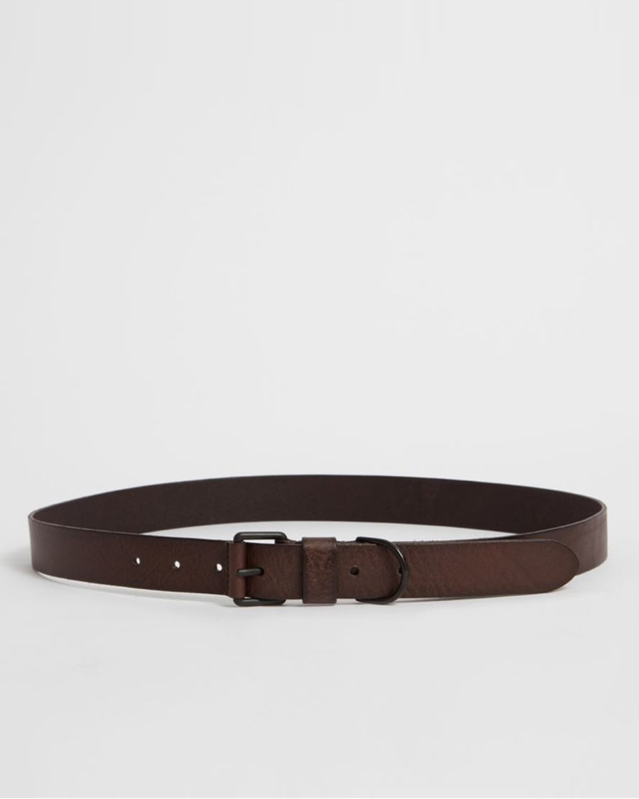 Product shot of the Joel-D Leather Belt.
