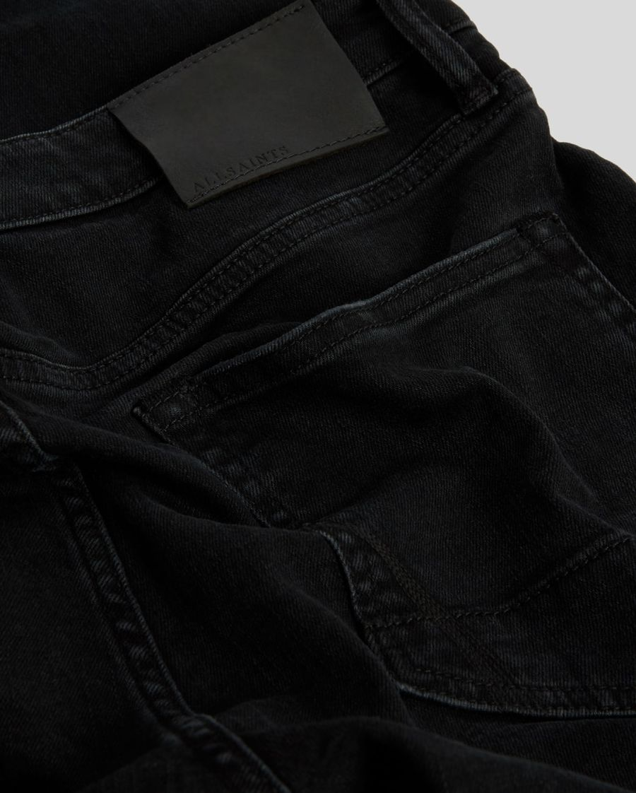 Close up of the back pockets of our black skinny jeans,