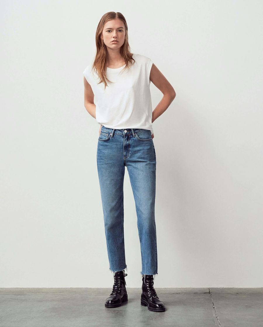 Découvrez notre jean droit à taille haute Harper.