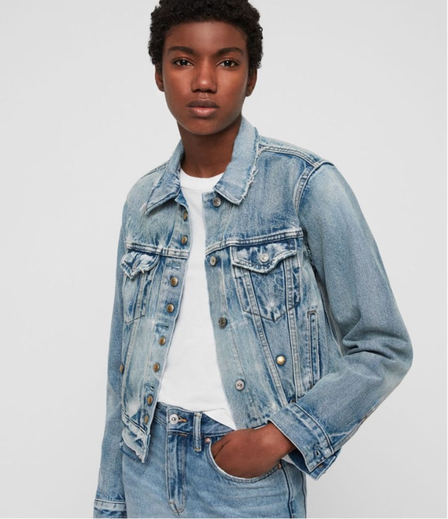 Product shot of the Lexi Snap Denim Jacket.