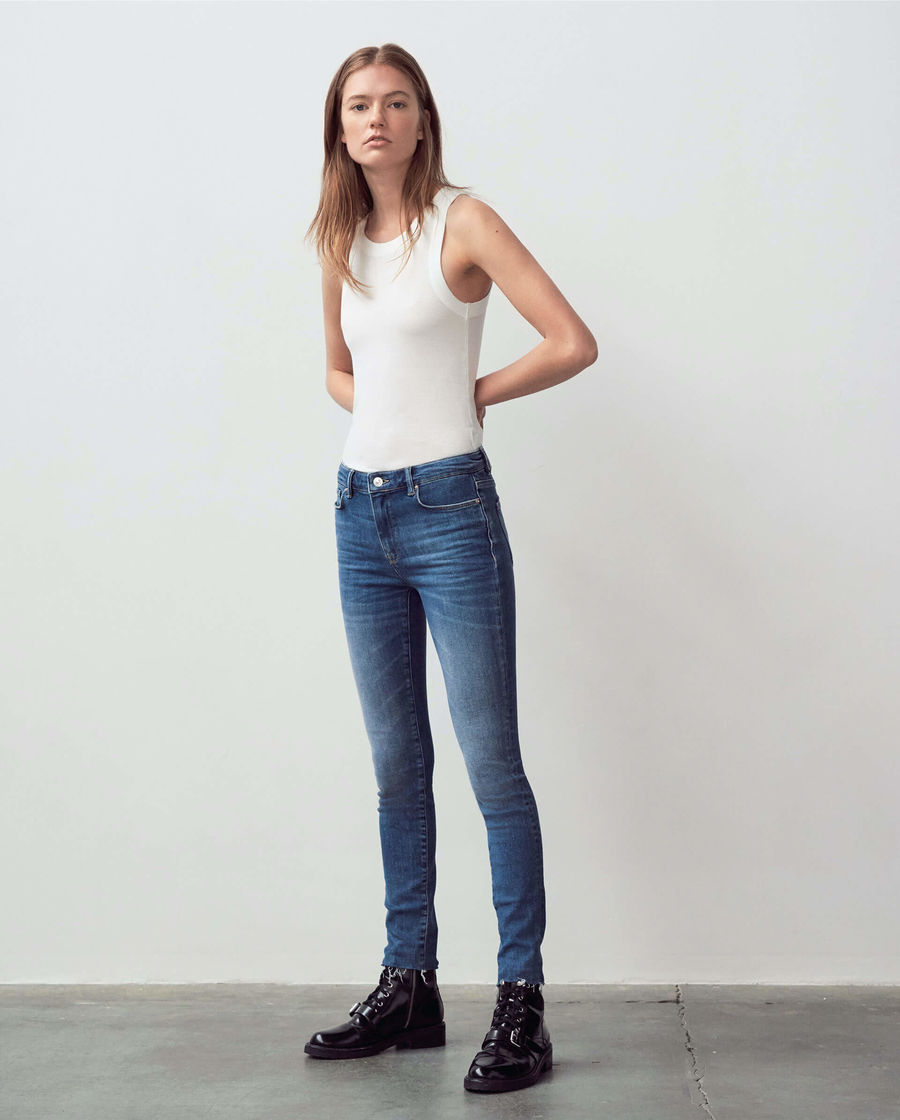Discover our mid-rise skinny Miller jeans.