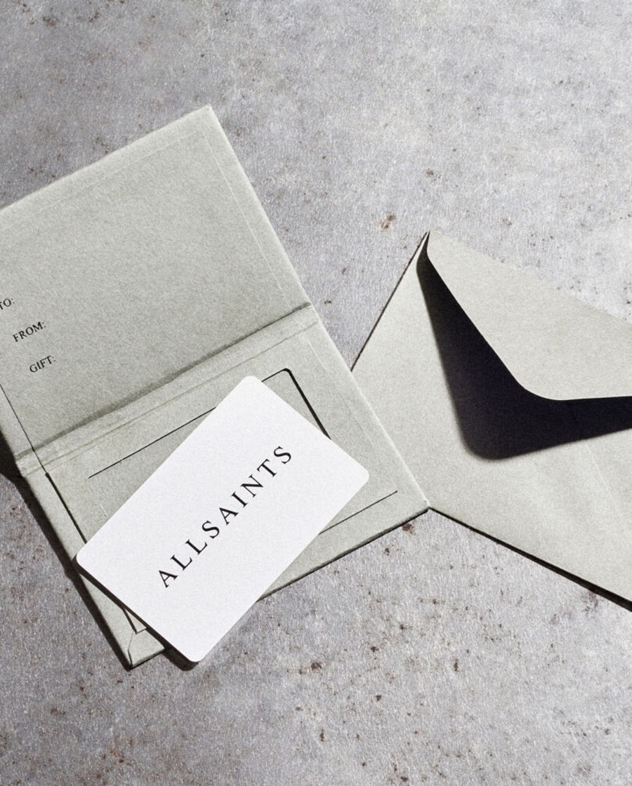 Shop AllSaints gift cards.